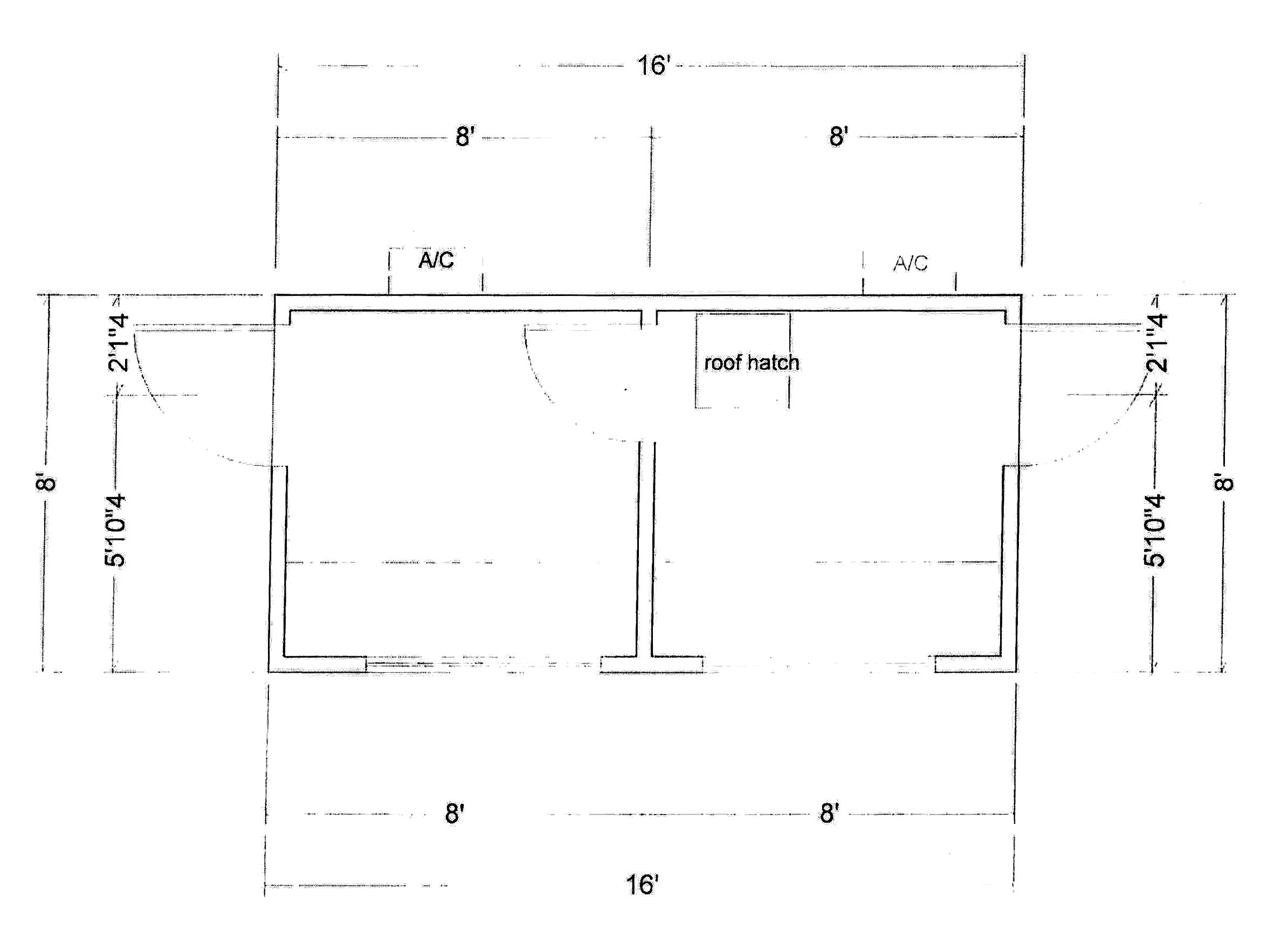 8x16 Press Box Layout