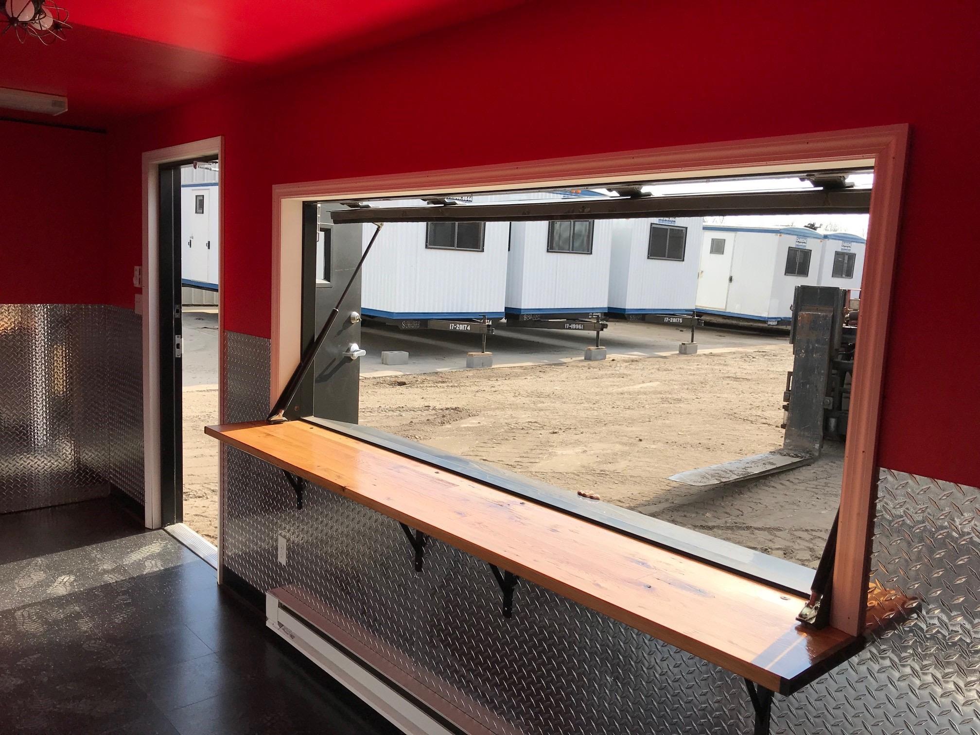 Interior Serving Window Open